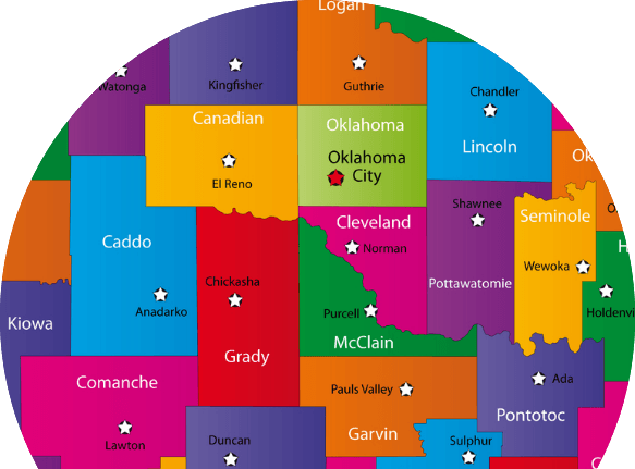 Oklahoma Counties Map